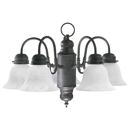Quorum Lighting Quorum Lighting Toasted Sienna Mini-Chandelier 6429-5-44