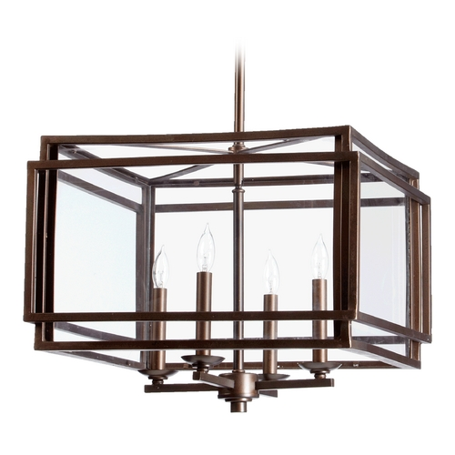 Quorum Lighting Quorum Lighting Kaufmann Oiled Bronze Pendant Light 6904-4-86