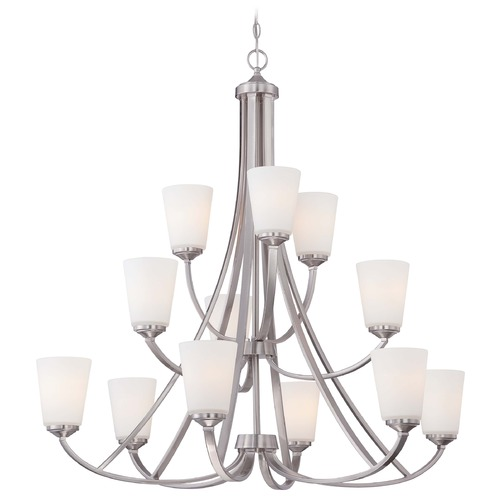 Minka Lavery Minka Overland Park Brushed Nickel Chandelier 4968-84