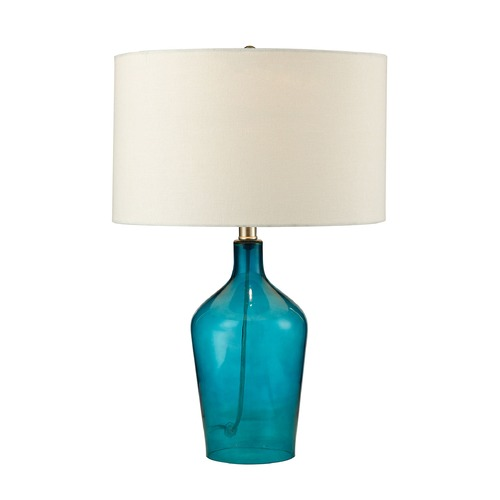 Dimond Lighting Dimond Lighting Teal Table Lamp with Drum Shade D2696
