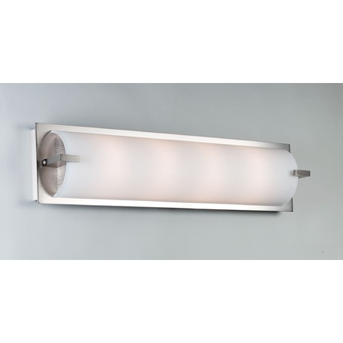 Illuminating Experiences Elf Satin Nickel LED Bathroom Light - Vertical or Horizontal Mounting ELF5LED