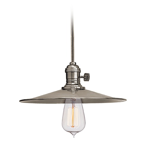 Hudson Valley Lighting Hudson Valley Lighting Heirloom Historic Nickel Pendant Light with Coolie Shade 8001-HN-MS1