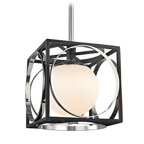 Hudson Valley Lighting Hudson Valley Lighting Wadsworth Polished Nickel Pendant Light with Globe Shade 5810-PN