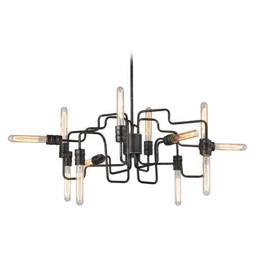 Elk Lighting Elk Lighting Transit Silvered Graphite Chandelier 31992/12