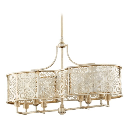Quorum Lighting Quorum Lighting Bastille Aged Silver Leaf Island Light 6575-8-60