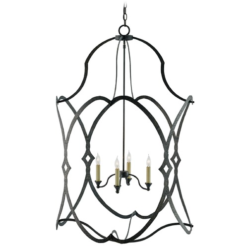 Currey and Company Lighting Currey and Company Charisma French Black Pendant Light 9000-0025