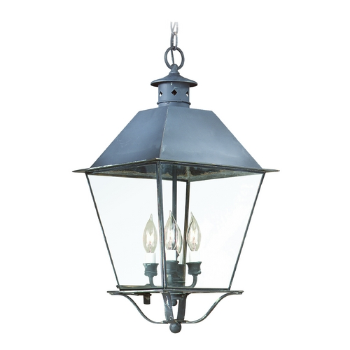 Troy Lighting Outdoor Hanging Light with Clear Glass in Natural Rust Finish F9139NR