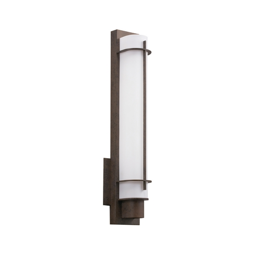 Kichler Lighting Kichler Sconce Wall Light with White in Olde Bronze Finish 10448OZ