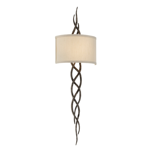 Troy Lighting Sconce Wall Light with White Shade in Cottage Bronze Finish B3462
