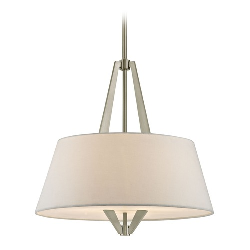 Design Classics Lighting Tapered Drum Pendant Light with Satin Nickel Frame 1711-09