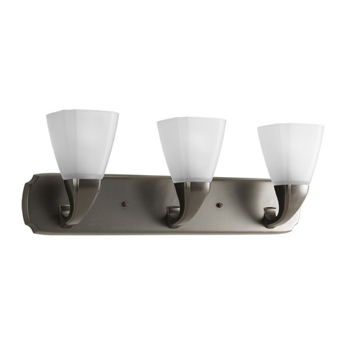 Progress Lighting Progress Bathroom Light with White Glass in Venetian Bronze Finish P2848-74