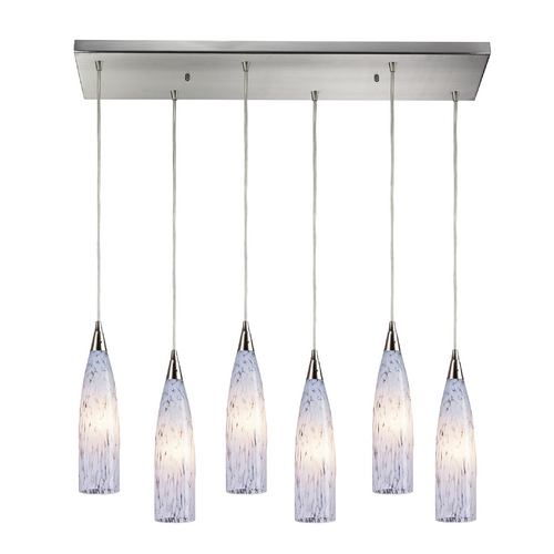 Elk Lighting Modern Multi-Light Pendant Light with White Glass and 6-Lights 501-6RC-SW