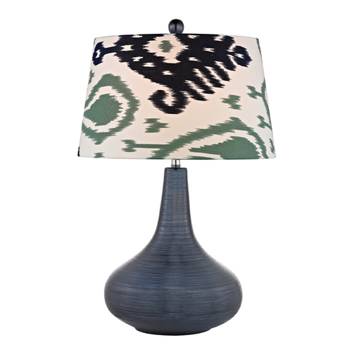 Dimond Lighting Table Lamp with Multi-Color Shades in Navy Blue Finish D2520