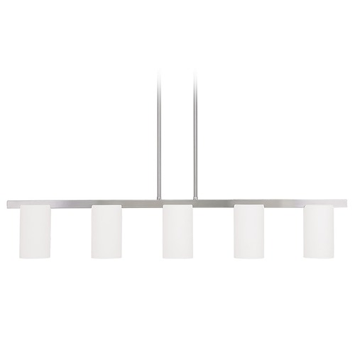Livex Lighting Livex Lighting Astoria Brushed Nickel Island Light with Cylindrical Shade 1327-91