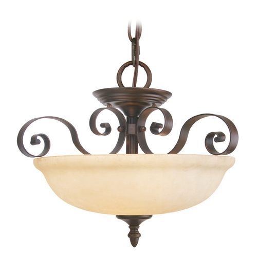 Livex Lighting Livex Lighting Manchester Imperial Bronze Pendant Light with Bowl / Dome Shade 6149-58
