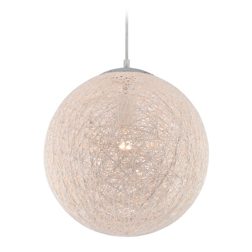 Lite Source Lighting Lite Source Kumi Chrome Pendant Light with Globe Shade LS-19520
