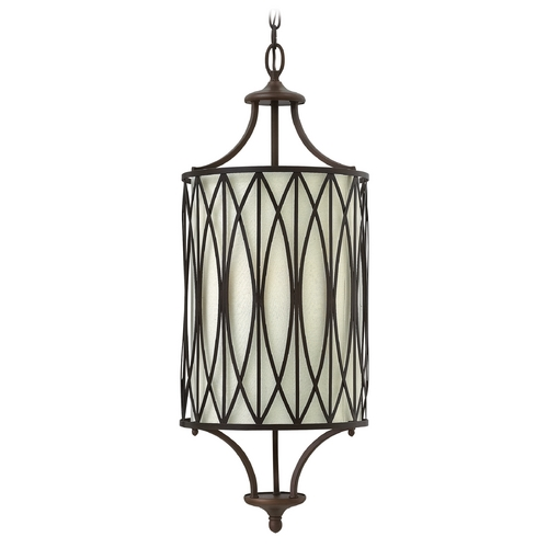 Hinkley Lighting Hinkley Lighting Walden Victorian Bronze Pendant Light with Cylindrical Shade 3293VZ