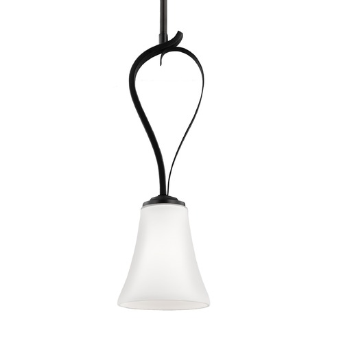 Feiss Lighting Feiss Summerdale Oil Rubbed Bronze Mini-Pendant Light with Bell Shade P1333ORB