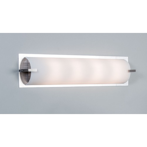 Illuminating Experiences Elf Plus Satin Nickel Bathroom Light - Vertical or Horizontal Mounting ELFPLUS5SN