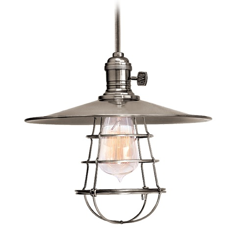 Hudson Valley Lighting Hudson Valley Lighting Heirloom Historic Nickel Pendant Light with Coolie Shade 8001-HN-MS1-WG