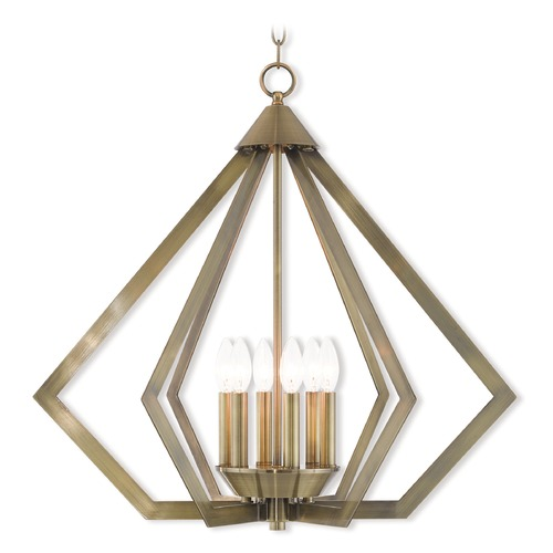 Livex Lighting Livex Lighting Prism Antique Brass Pendant Light 40926-01