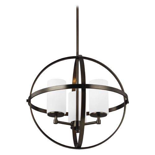 Sea Gull Lighting Sea Gull Lighting Alturas Brushed Oil Rubbed Bronze LED Mini-Chandelier 3124603EN3-778