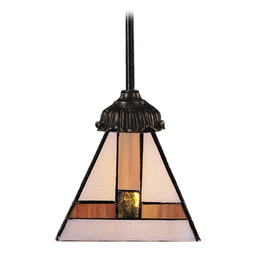 Elk Lighting Mini-Pendant Light with Multi-Color Glass 078-TB-01