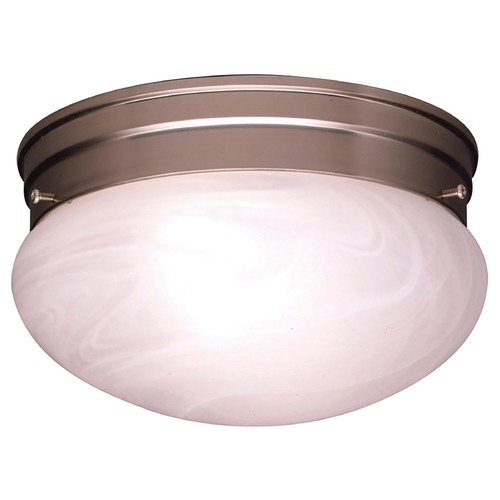 Kichler Lighting Kichler Modern Flushmount Light with Alabaster Glass 8209NI