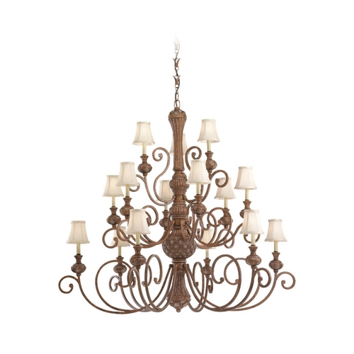 Sea Gull Lighting Chandelier with Beige / Cream Shades in Regal Bronze Finish 31253-758