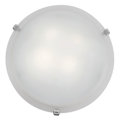 Access Lighting Modern Flushmount Light with White Glass in Chrome Finish 23019-CH/WH