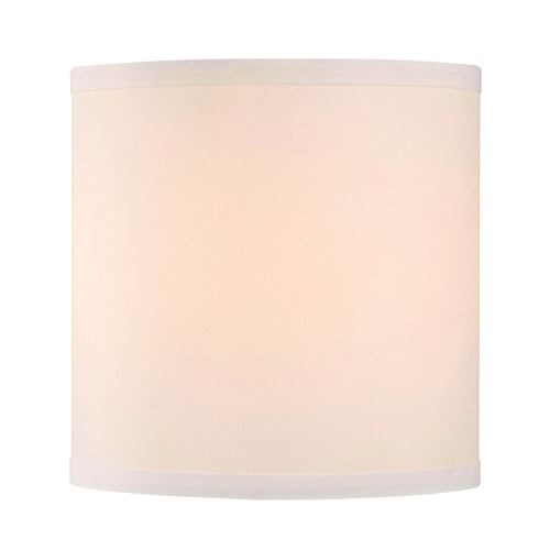 Design Classics Lighting White Linen Drum Lamp Shade SH9552