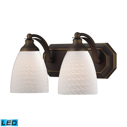 Elk Lighting Elk Lighting Bath and Spa Aged Bronze LED Bathroom Light 570-2B-WS-LED