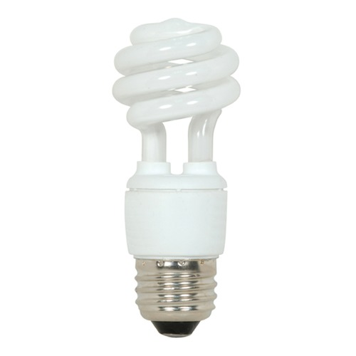 Satco Lighting Compact Fluorescent T2 Light Bulb Medium Base 2700K 120V by Satco Lighting S5504