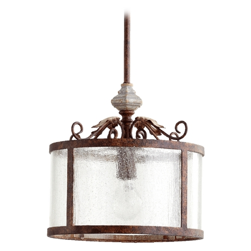 Quorum Lighting Quorum Lighting La Maison Manchester Grey Pendant Light with Drum Shade 3052-56