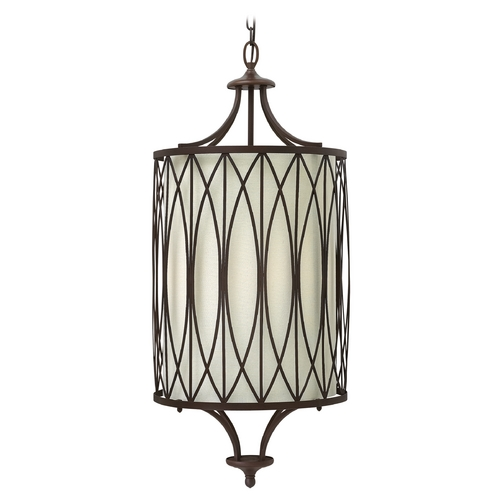 Hinkley Lighting Hinkley Lighting Walden Victorian Bronze Pendant Light with Cylindrical Shade 3294VZ