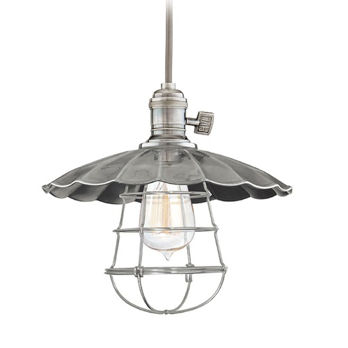 Hudson Valley Lighting Hudson Valley Lighting Heirloom Historic Nickel Pendant Light with Bowl / Dome Shade 8001-HN-MS2-WG