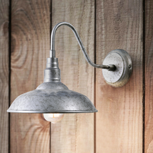 Kenroy Home Lighting Barn Light Outdoor Wall Galvanize Metal by Kenroy Home Lighting 93506GAL