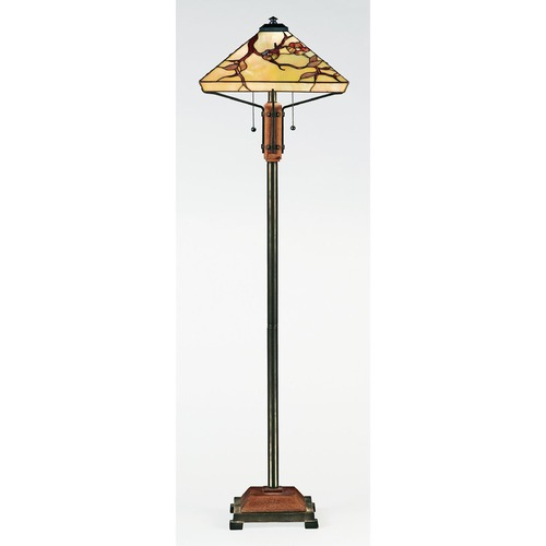 Quoizel Lighting Floor Lamp with Multi-Colored Glass in Multi Finish TF9404M