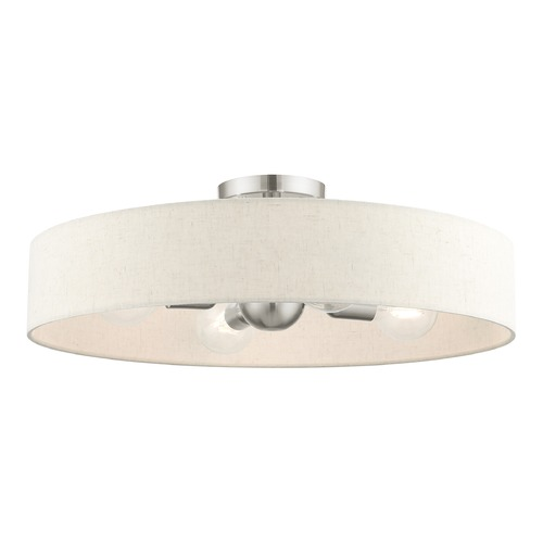 Livex Lighting Livex Lighting Venlo Bronze with Antique Brass Accents Semi-Flushmount Light 46038-91