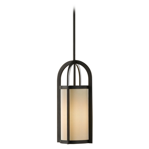Feiss Lighting Modern Mini-Pendant Light with Beige / Cream Shade P1199ORB