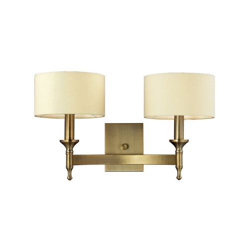Elk Lighting Sconce Wall Light with Beige / Cream Shades in Antique Brass Finish 10261/2
