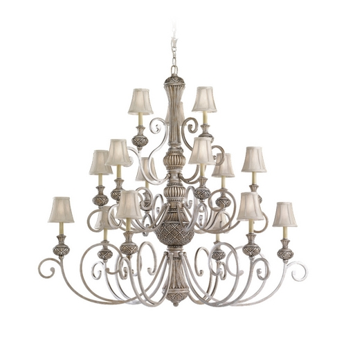 Sea Gull Lighting Chandelier with Silver Shades in Palladium Finish 31253-824