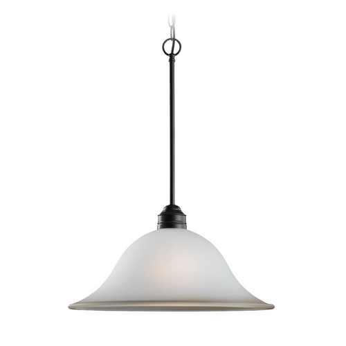 Sea Gull Lighting Pendant Light with Amber Glass in Heirloom Bronze Finish 65850-782