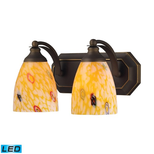 Elk Lighting Elk Lighting Bath and Spa Aged Bronze LED Bathroom Light 570-2B-YW-LED
