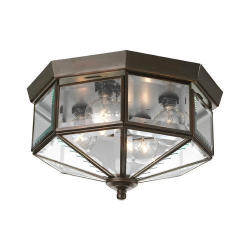 Progress Lighting Progress Bronze Outdoor Ceiling Light with Clear Glass P5789-20