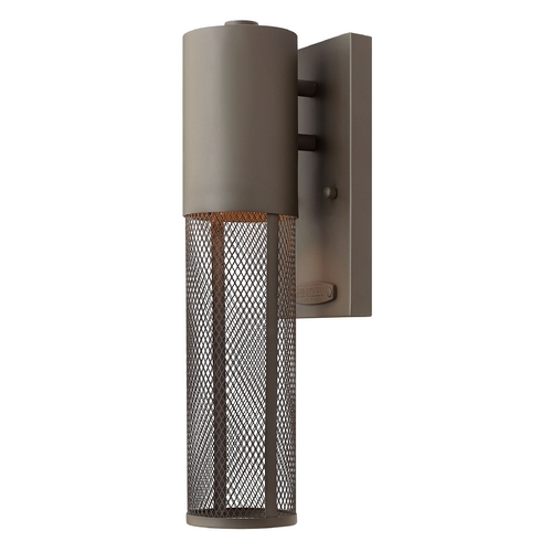 Hinkley Lighting Modern Outdoor Wall Light in Buckeye Bronze Finish 2306KZ-GU24