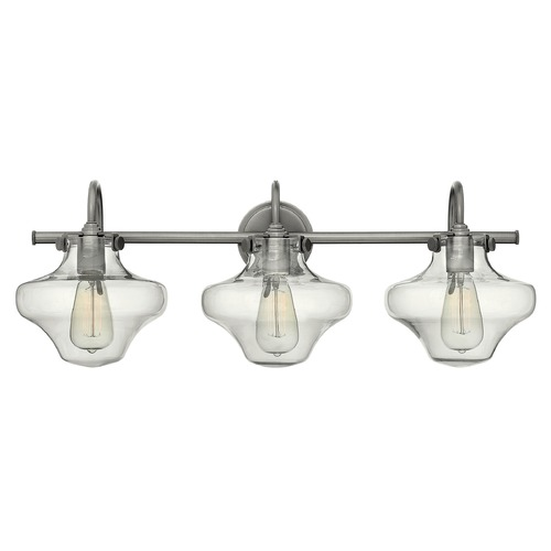 Hinkley Lighting Hinkley Lighting Congress Antique Nickel Bathroom Light 50031AN