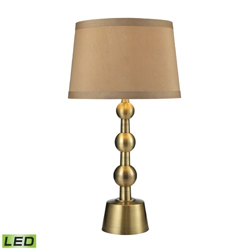 Dimond Lighting Dimond Lighting Aged Brass LED Table Lamp with Empire Shade D2697-LED