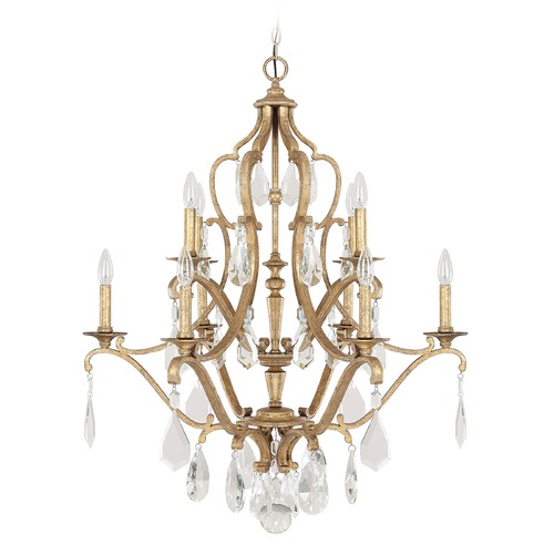 Capital Lighting Capital Lighting Blakely Antique Gold Crystal Chandelier 4180AG-CR