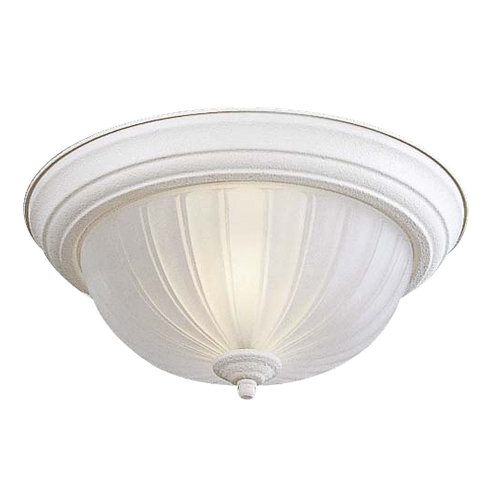 Minka Lighting Flushmount Light with White Glass in White Finish 829-86